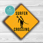 Surfer Crossing Sign 2