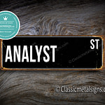 Analyst Street Sign Gift