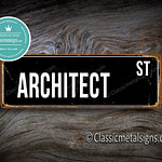 Architect Street Sign Gift 1