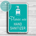 Classic Metal Signs Hand Sanitizer Sign