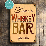 Personalized Whiskey Bar Sign