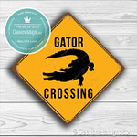 Gator Crossing Signs