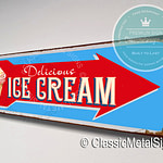 Ice Cream Directional Sign