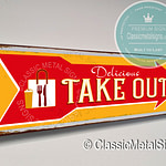 Take Out Arrow Sign
