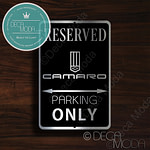 Camaro Parking Only Signs