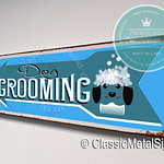 Dog Grooming Directional Sign