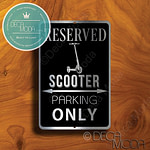 Scooter Parking Only Signs
