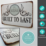 Sign With Icons Classic Metal Signs (2)
