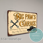 Big Paw's Garage Sign