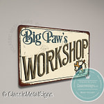 Big Paw's Workshop Signs