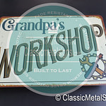 Classic Metal Signs Workshop Signs