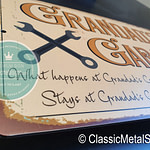 Garage Signs on Classic Metal Signs