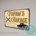 Papaw's Garage Signs