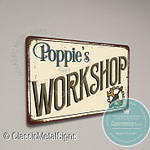 Poppie's Workshop Sign