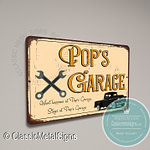Pop's Garage Sign