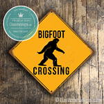Big Foot Crossing Signs
