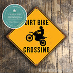 Dirt Bike Crossing Sign