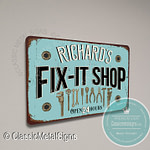 Personalized Fix-it Shop Sign