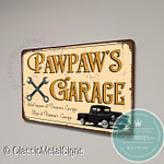 Pawpaw's Garage Signs