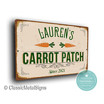 Custom Carrot Patch Signs