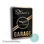 Custom Corvette Garage Signs