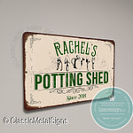 Custom Potting Shed Signs