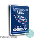 Tennessee Titans Parking Signs