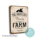 Custom Family Farm sign