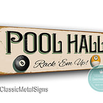 Pool Hall Sign