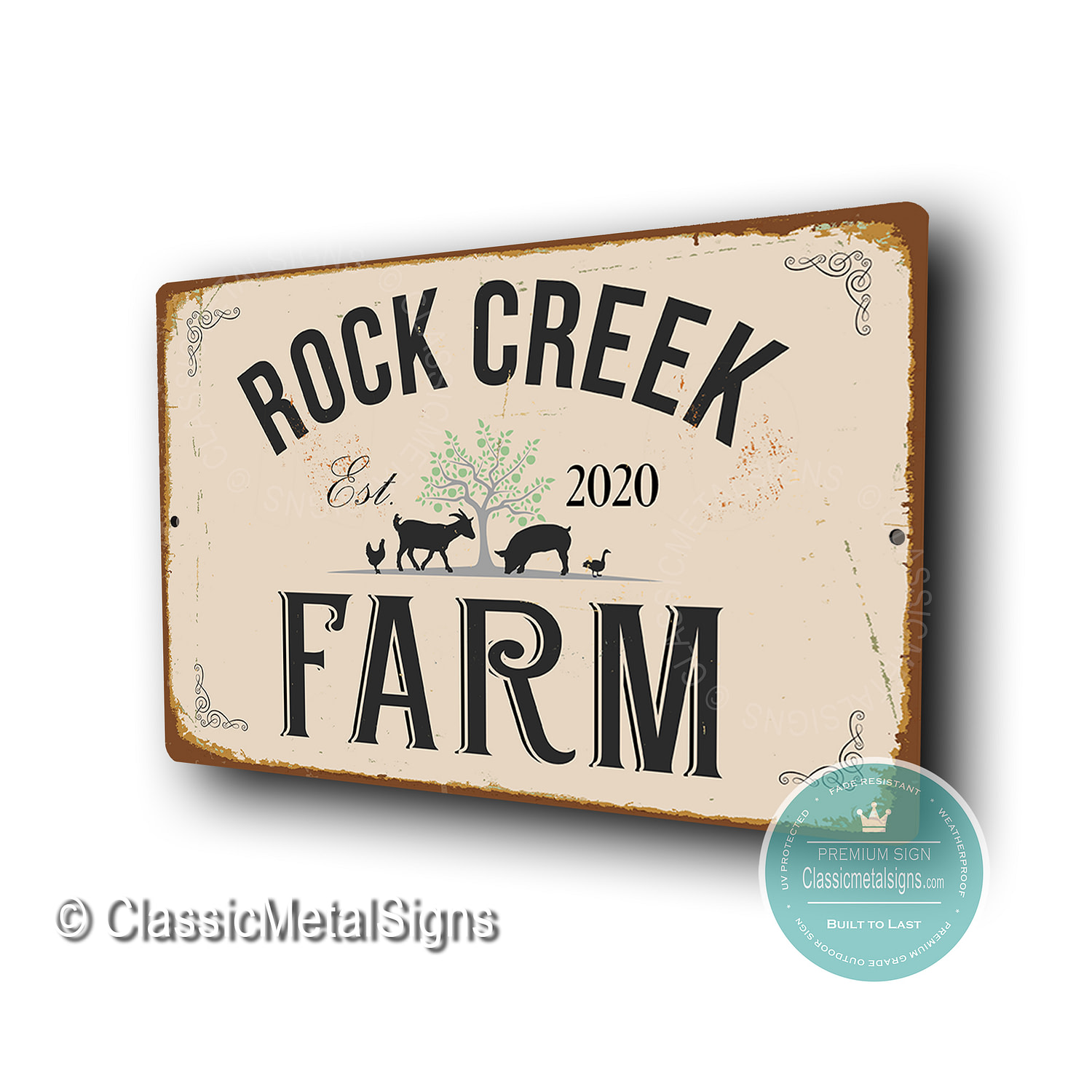 Custom Farm Name Signs
