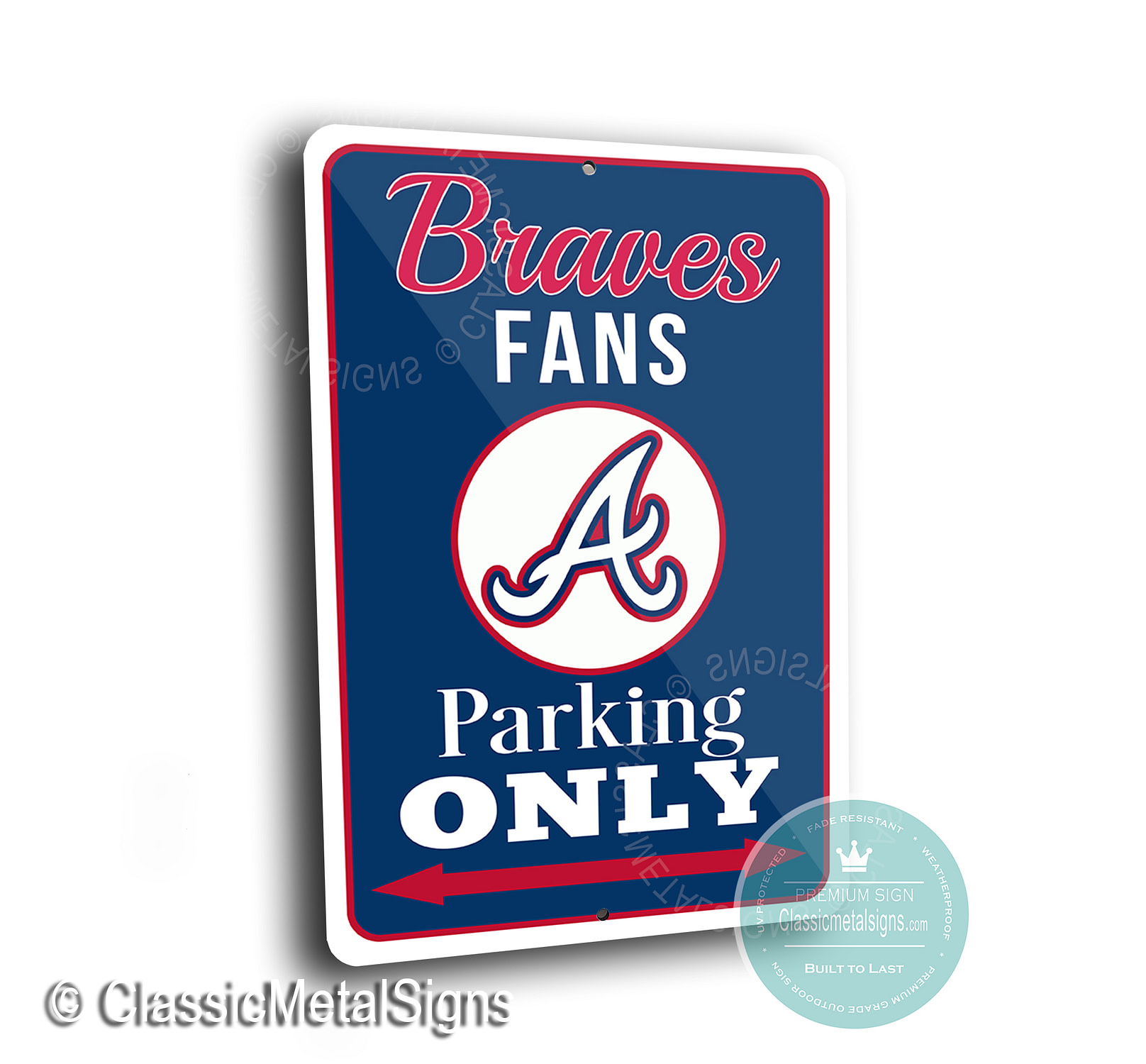 Atlanta Braves Parking Only Signs