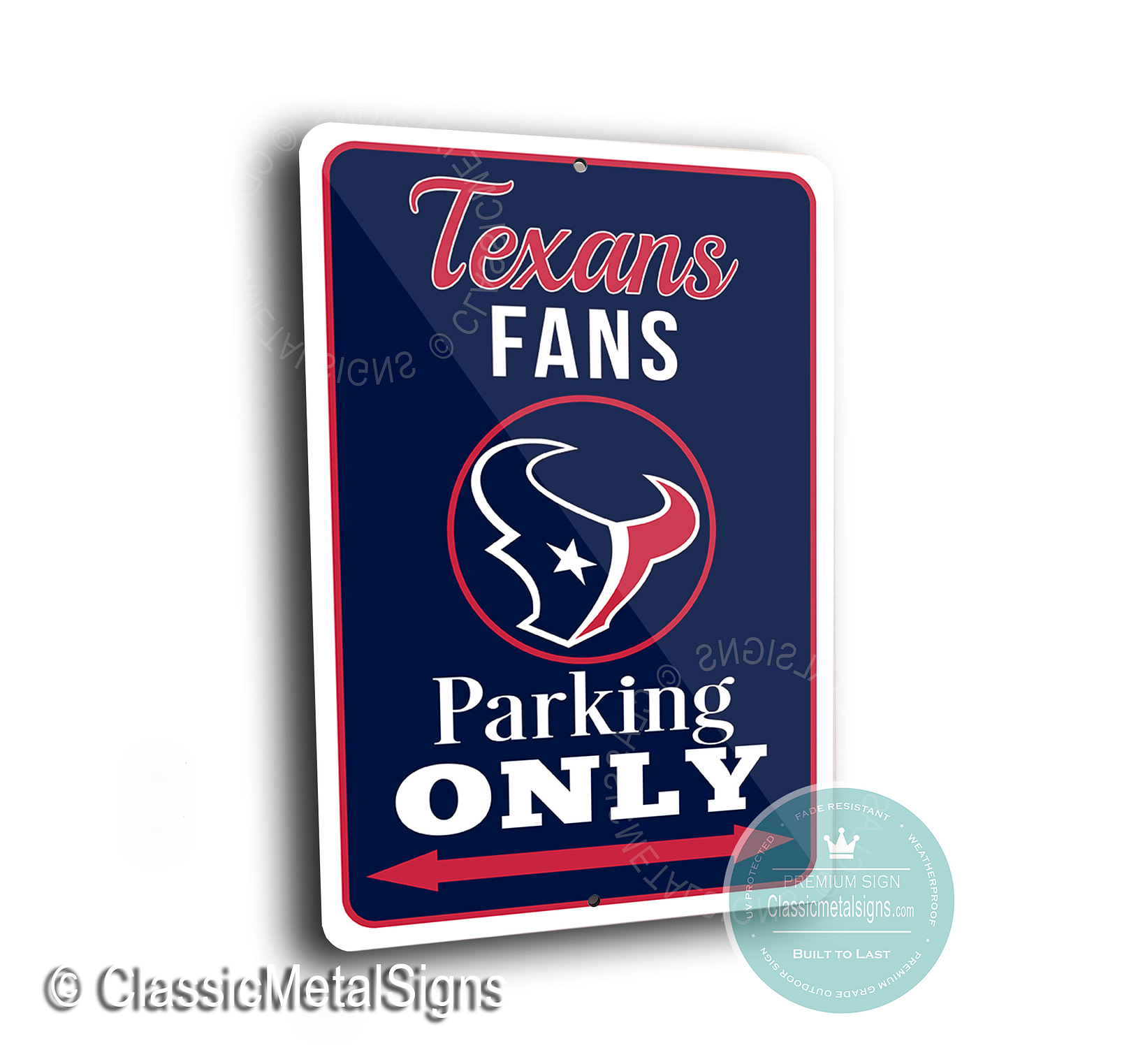 Houston Texans Parking Signs