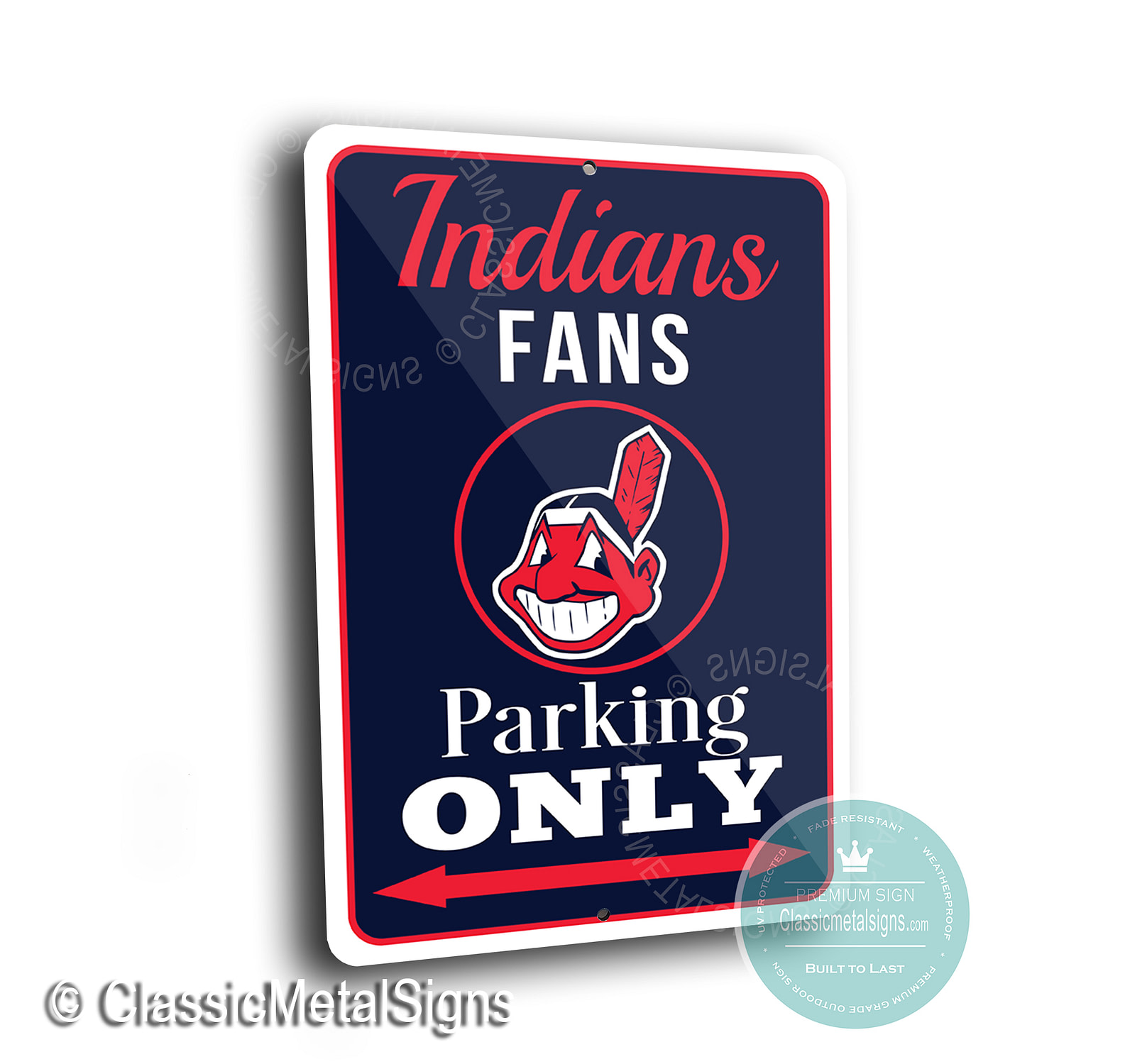 Indians Parking Only Signs