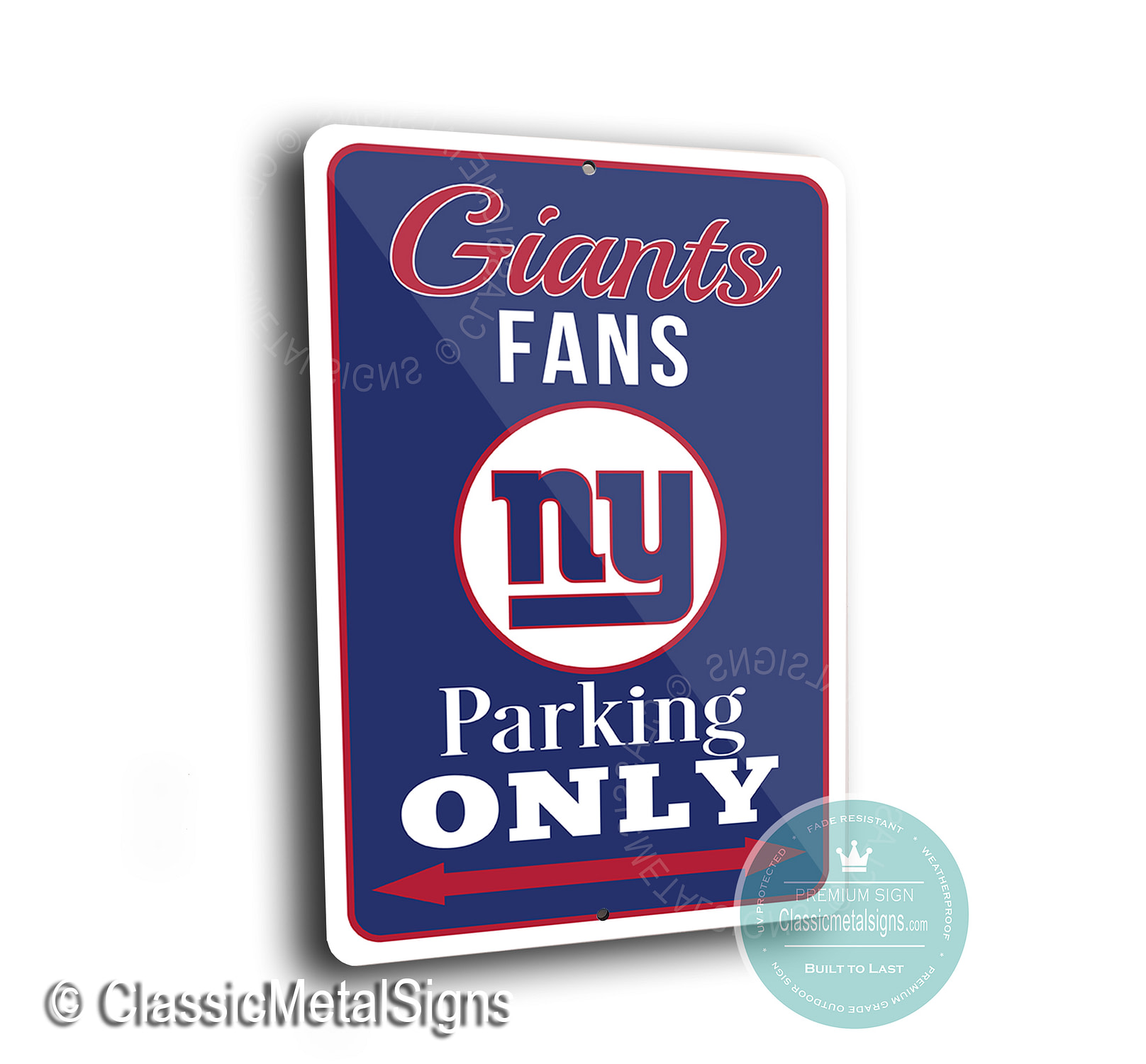 New York Giants Parking Signs
