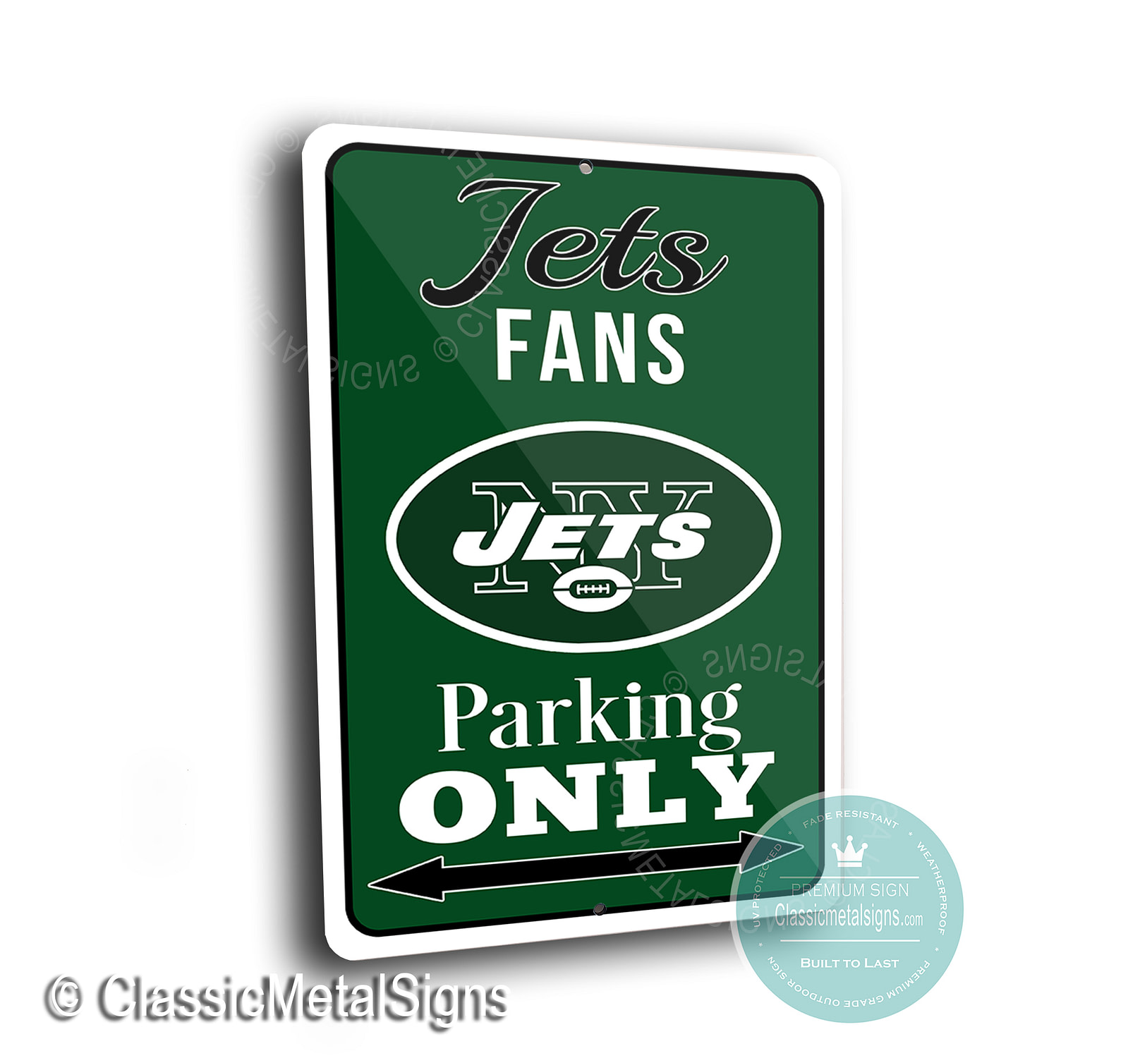 New York Jets Parking Signs