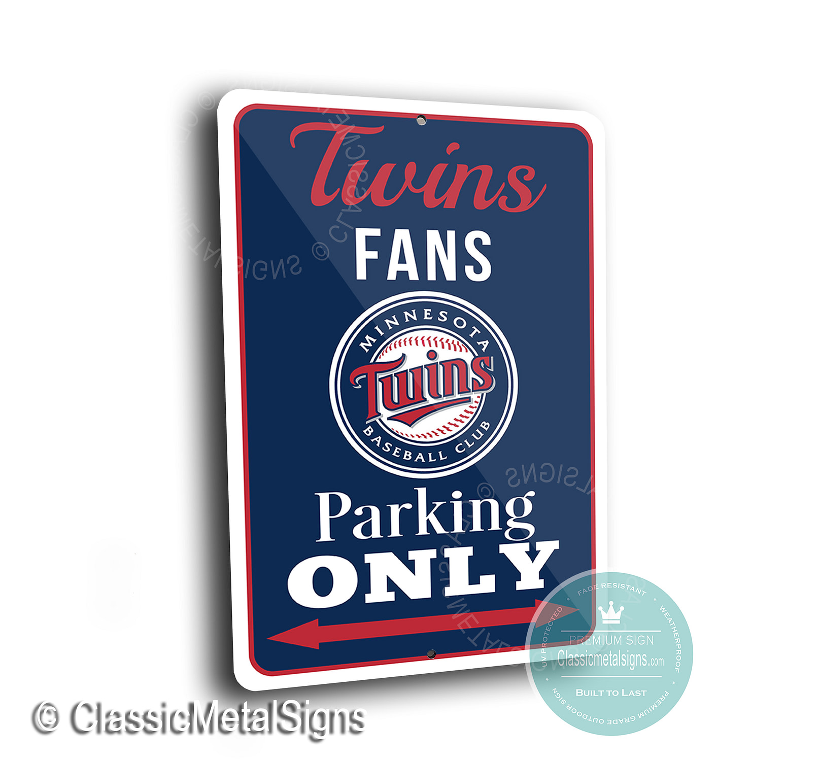 Twins Parking Only Signs