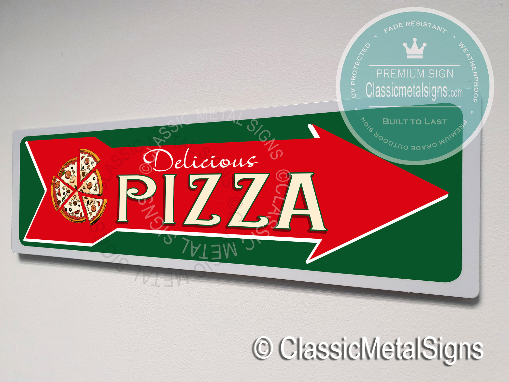 Pizza Directional sign