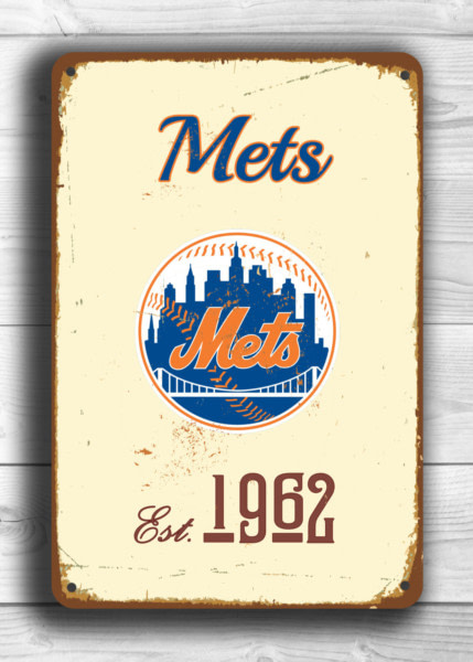 Vintage style New YORK METS Sign