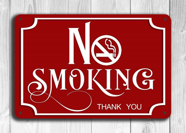Red No Smoking Sig