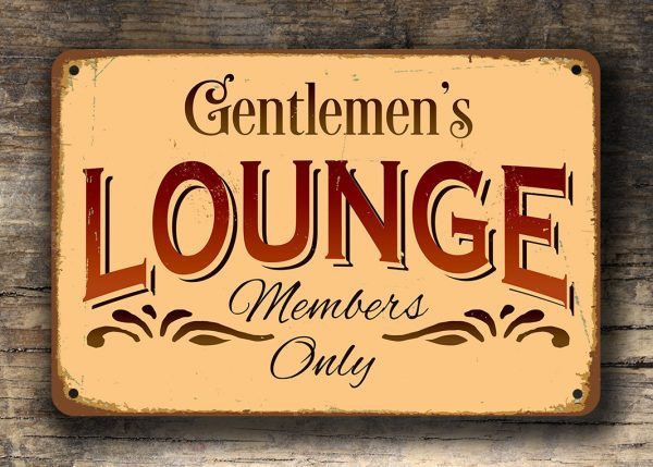 GENTLEMENS LOUNGE SIGN
