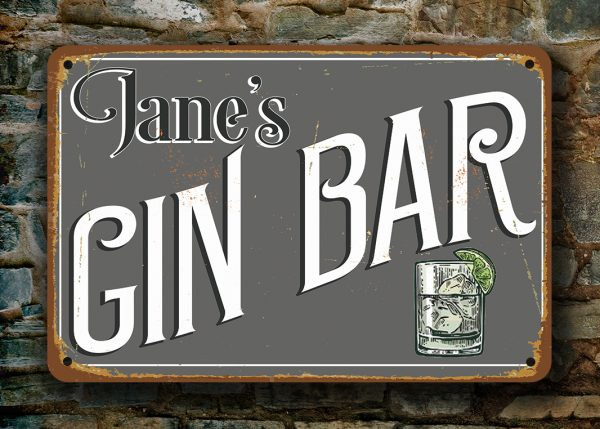 Gin Bar Sign
