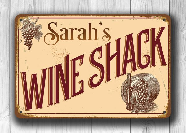 Personalized Wine Shack Sign