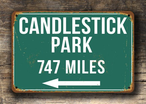 Candlestick Park Distance Sign