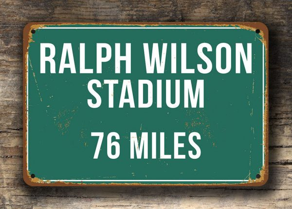 Personalized Ralph Wilson Miles Sign