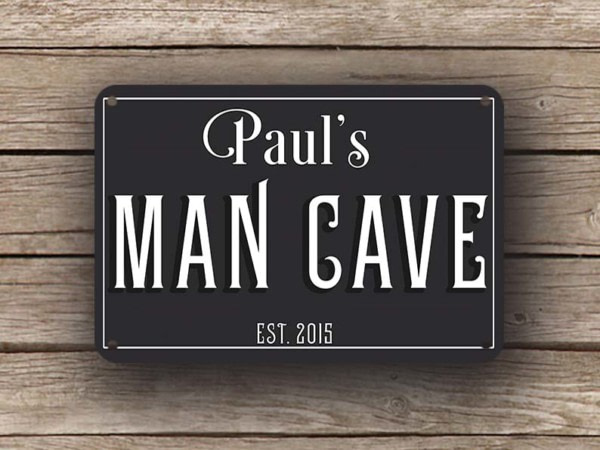 Black Man Cave Sign