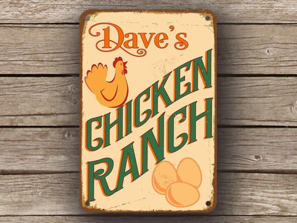 Chicken Range Sign