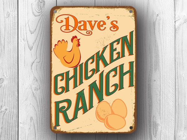Personalized Chicken Ranch Sign