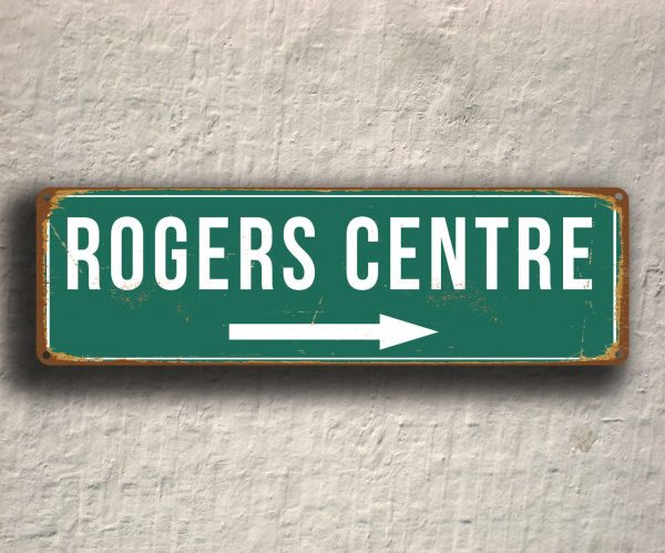 Vintage style Rogers Centre Stadium Sign