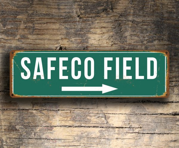 Vintage style Safeco Field Sign