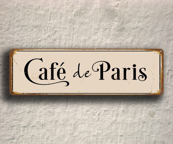Cafe De Paris Sign